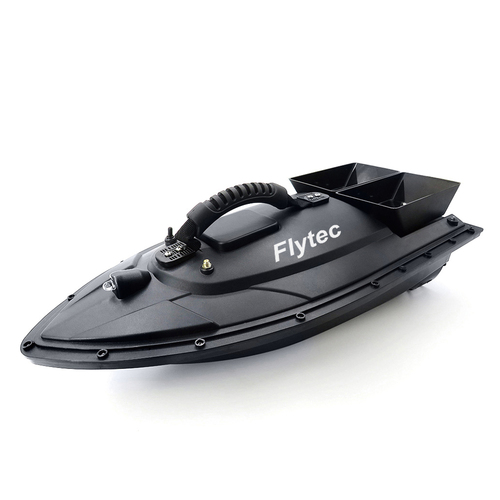 Flytec 2011-5 500M Bait Fishing Boat with Two Fish Finder 1.5kg Loading Tanks RC Boat Black