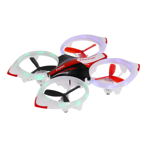 Flytec T19 Cool LED Lighting Altitude-Hold RC Drone Suitable For Beginners Red