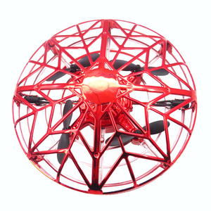 Flytec F10 Mini Altitude Hold UFO Drone Hand Control Multi-person Interactive Flying Ball Red