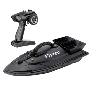 Flytec V500 Bait Fishing Boat with Gun Type Controller 500m Remote Control Boat Black