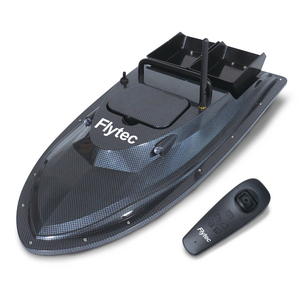 Flytec V007 Fishing Bait Boat With Fixed Speed Cruise Yaw Correction Features Carbon Black
