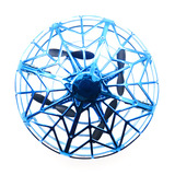 Flytec F10 Mini Altitude Hold UFO Drone Hand Control Multi-person Interactive Flying Ball Blue