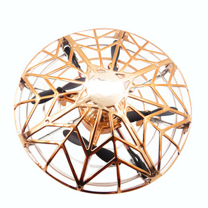 Flytec F10 Mini Altitude Hold UFO Drone Hand Control Multi-person Interactive Flying Ball Gold