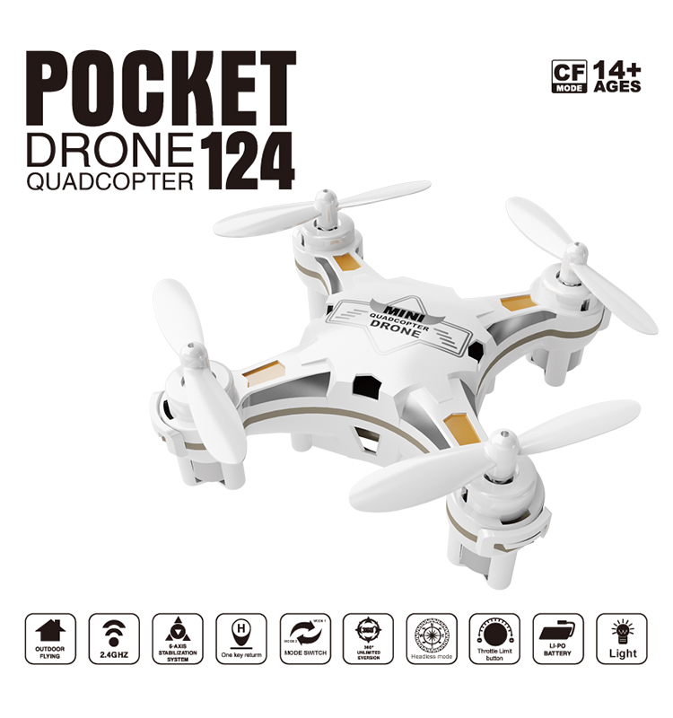 124_White_Pocket_Drone_One_Key_Switch_Controller_USB_Charger_Mini_RC_Quadcopter_RTF_01.jpg