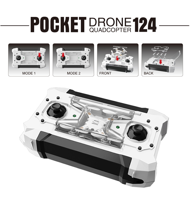 124_White_Pocket_Drone_One_Key_Switch_Controller_USB_Charger_Mini_RC_Quadcopter_RTF_02.jpg