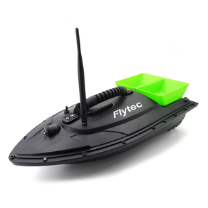 Flytec 2011-5 500M Bait Fishing Boat with Two Fish Finder 1.5kg Loading Tanks RC Boat Green