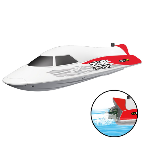 Flytec V008 35KM Super High Speed RC Jet Boat With Self-righting Feature For Pool and Lakes Red