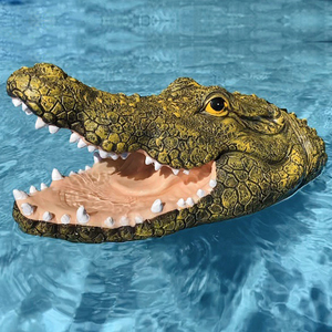 Flytec V308 Simulation Ferocious Scary Crocodile Head Floats High Speed RC Boat Spoof Toy